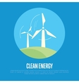 Clean energy banner Eco power generation vector image