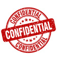 confidential red grunge round vintage rubber stamp vector image
