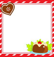 decorated christmas frame new year blank vector image vector image