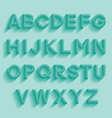 Decorative retro alphabet vector image