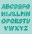 Decorative retro alphabet vector image vector image