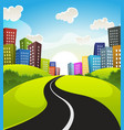 downtown cartoon landscape vector image vector image