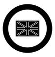 flag united kingdom icon black color in circle vector image vector image