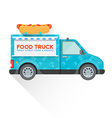 food truck delivery vehicle vector image vector image