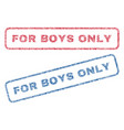for boys only textile stamps vector image vector image