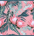 hand drawn tropical summer background vector image vector image