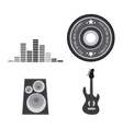 Icon set Electro Party and Music design vector image vector image