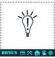 idea icon flat vector image vector image