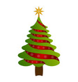 isolated christmas tree vector image