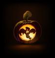 jack-o-lantern dark spooky ghost vector image vector image