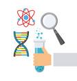 laboratory supplies design vector image vector image