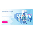 learning online at home vector image vector image
