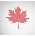 Lined Maple Leaf vector image