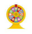 lucky wheel icon flat style vector image vector image