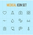 medical outline icon set vector image vector image