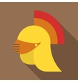 Medieval helmet icon flat style vector image vector image