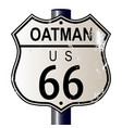 oatman route 66 sign vector image vector image