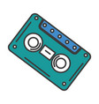 old cassette isolated icon vector image vector image