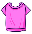pink woman shirt on white background vector image vector image