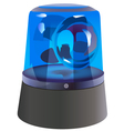 Police-light vector image