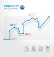 Property business diagram line style vector image vector image