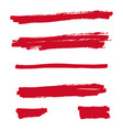 red highlighter marker vector image