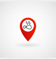 red location icon for steak house eps file vector image vector image