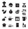 restaurant cooking icon set vector image vector image