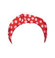 retro headband for woman red bandana for vector image