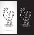 rooster or cock design on white background and vector image vector image