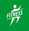 running man logo for fitness club vector image vector image