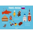Russia travel background with place for text Set vector image vector image