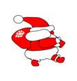 santa claus goes new year christmas icon walking vector image vector image