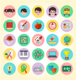 School icons set vector image vector image