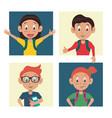 school kids cartoon vector image vector image