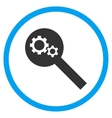 Search Tools Flat Rounded Icon vector image vector image