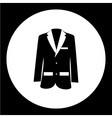 simple modern jacket suit black icon eps10 vector image vector image