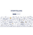 storytelling doodle concept vector image