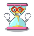 super hero cartoon hourglass in the dawn time vector image
