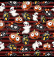 texture of cute characters halloween holiday vector image vector image