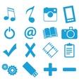 Unique flat icons set vector image vector image