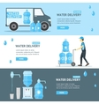 Water Delivery Service Banner Flat vector image
