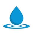 water drop icon vector image vector image