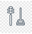 wiping utensils of bathroom concept linear icon vector image