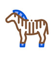 zebra icon outline vector image