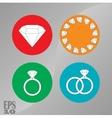 briliant icons jewelry diamonds vector image