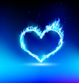 human heart with a blue light vector image