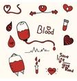 blood donation save a life cartoon vector image