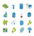 Ecology Isometric Icons Set vector image
