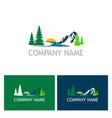 lake mountain nature logo vector image